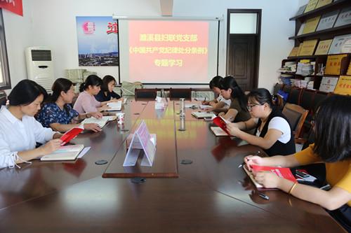濉溪县妇联学习新修订《中国共产党纪律处分条例》